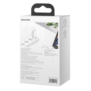 Baseus GaN2 Quick Charger 65W With Mini Cable USB-C To C White