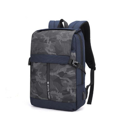 Arctic Hunter Durable Pro Water-Resistant Backpack 15.6' USB B00352 Blue