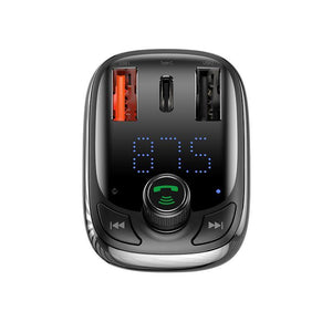 Baseus T typed Car Bluetooth Mic , FM , MP3 Player , Qualcomm 3.0 PD Fast Charge - Deal Gamed