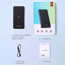 Load image into Gallery viewer, Ravpower Turbo RP-PB084 Wireless Power Bank 10,000mAh Black - Deal Gamed