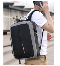 "Load image into Gallery viewer, 17"" Fashion Style Ant-Theft Waterproof USB Backpack - Deal Gamed"