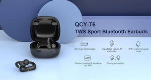 QCY T6 TWS Waterproof HIFI Stereo Earphone - Deal Gamed