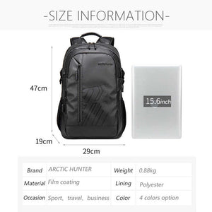 "Arctic Hunter Waterproof USB Backpack 15.6"" B00387 - Deal Gamed"