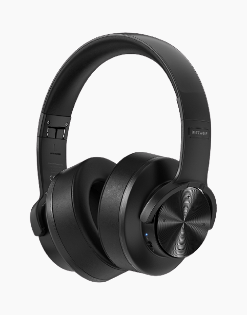 BlitzWolf BW-HP2 Wireless Headphone, 50mm Driver, Support Memory – Black - Deal Gamed