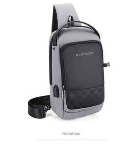 Arctic Hunter Cross Bag USB Waterproof Blue Navy - Deal Gamed