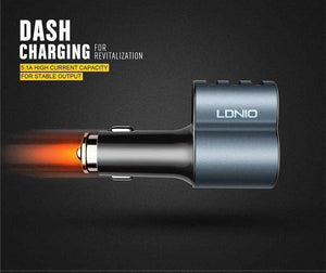 LDNIO 5.1A Fast Car Charger 3 USB CM11 - Deal Gamed
