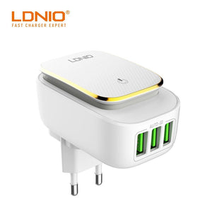 LDNIO LED Power Touch Lamp 3 USB Ports 3.4A Charger - Deal Gamed