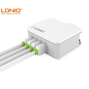 LDNIO 4 USB Fast Charger USB 4.4A A4403 - Deal Gamed