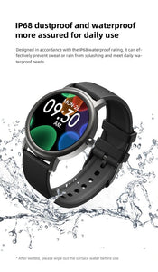 Mibro Air Touch  Health Fitness Tracker Waterproof  Metal Smart Watch Black