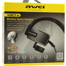 Load image into Gallery viewer, AWEI A883BL Bluetooth Sport Super Bass Sweatproof Earphone - Deal Gamed