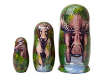 Load image into Gallery viewer, Moose Nesting Doll 3pc