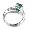Load image into Gallery viewer, 1.8ct Green Russian Nano Created Emerald Solitaire Engagement Ring For Women 925 Sterling Silver Jewelry