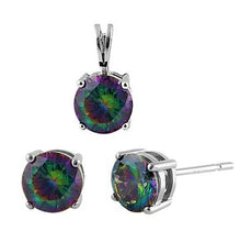 Load image into Gallery viewer, Sterling Silver Rainbow Topaz CZ Set