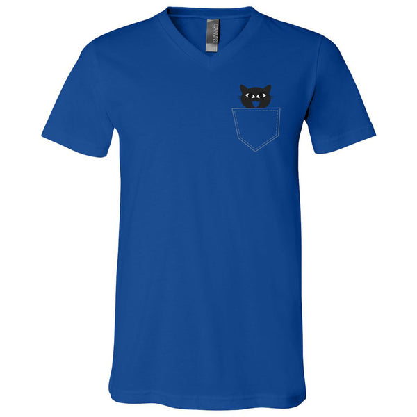 Pocket Cat Men's V-Neck T-Shirt