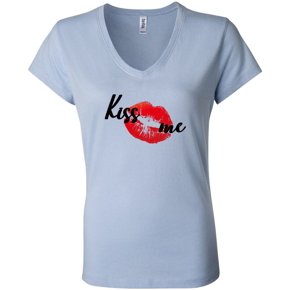 Kiss Me Flag Women's V-Neck T-Shirt