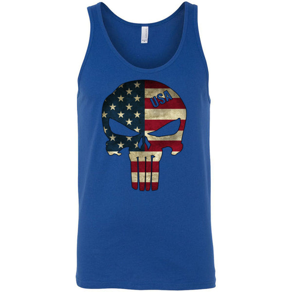 American Skull Flag Men's Tank Top