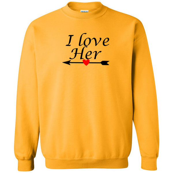 I Love Her Men's Crewneck Sweatshirt