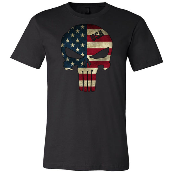 American Skull Flag Men's T-Shirt