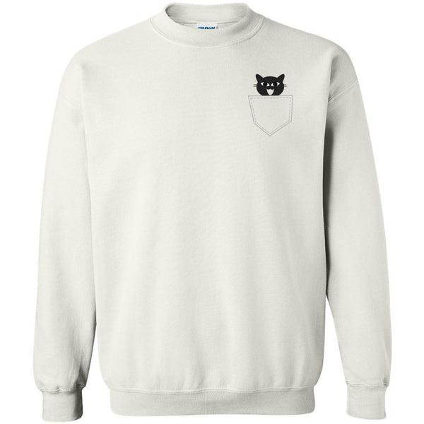 Pocket Cat Unisex Crewneck Sweatshirt
