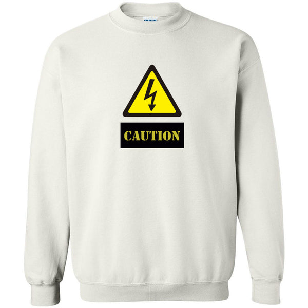 Caution Unisex Crewneck Sweatshirt