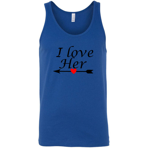 I Love Her Men's Tank Top