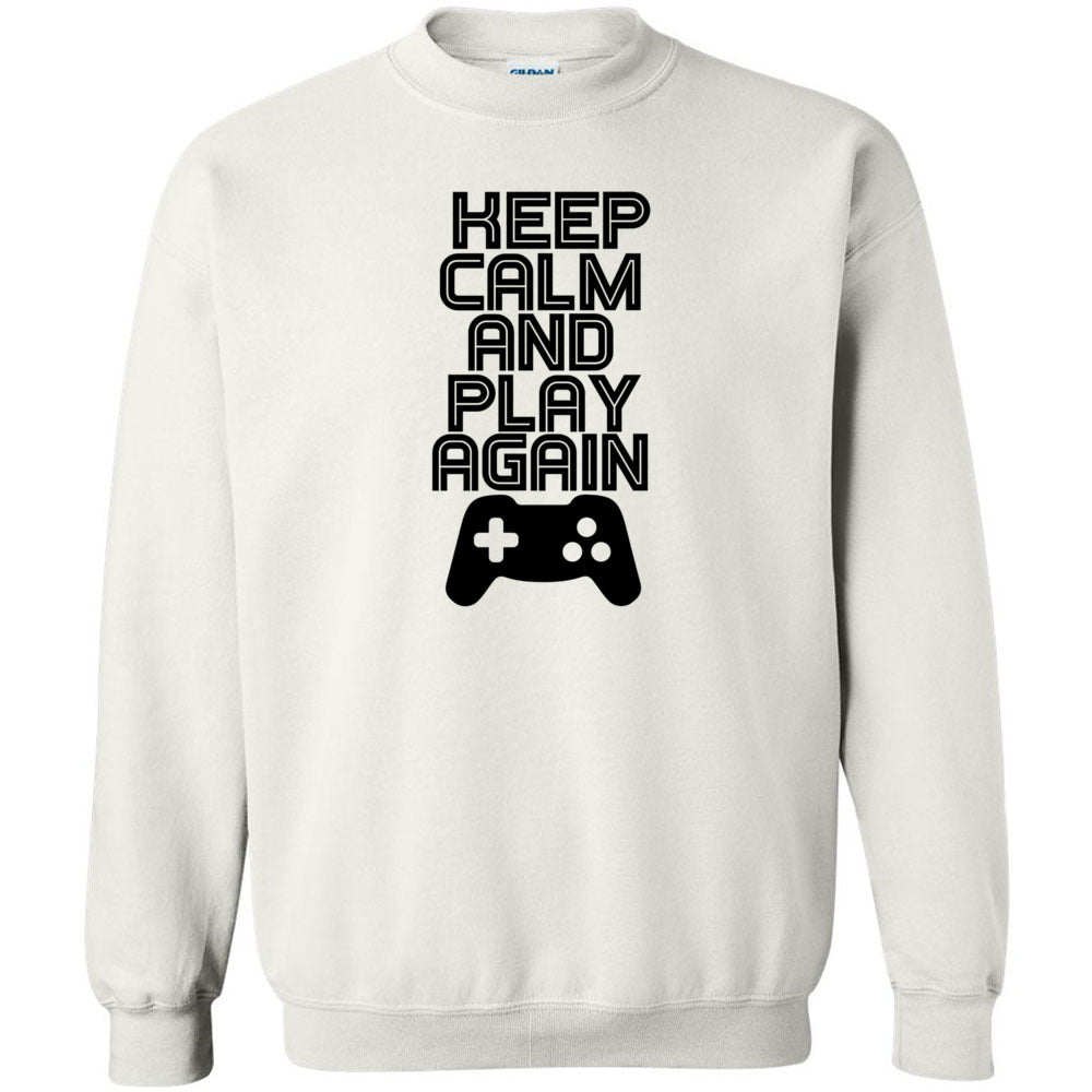 Keep Calm And Play Again Unisex Crewneck Sweatshirt