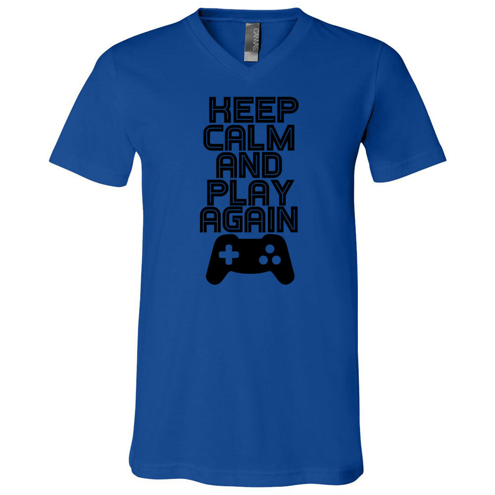 Keep Calm And Play Again Men's V-Neck T-Shirt
