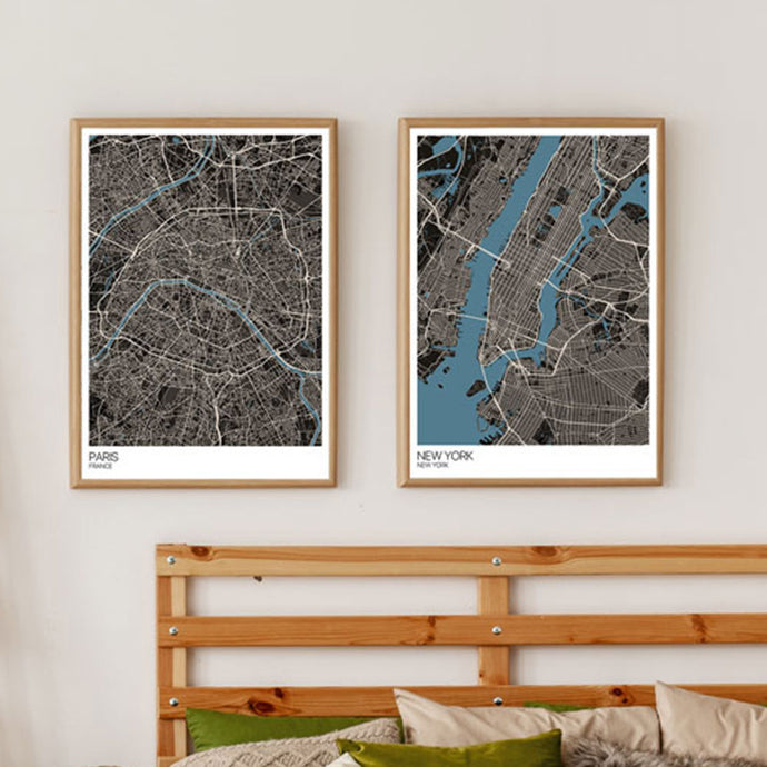 An Interview with City Map Art Print Designers Mapplyco.