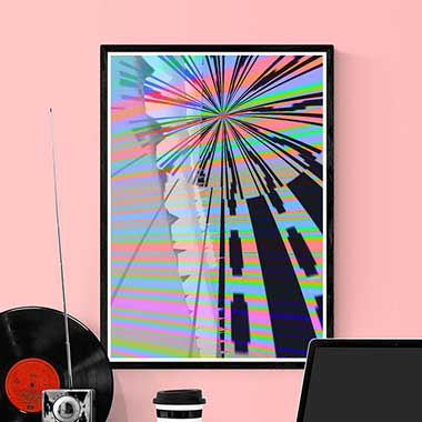 Glitch art prints by Allison Tanenhaus