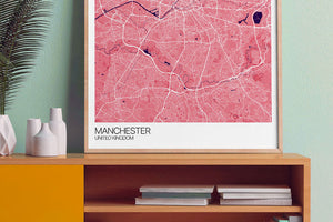 Manchester City Map Print