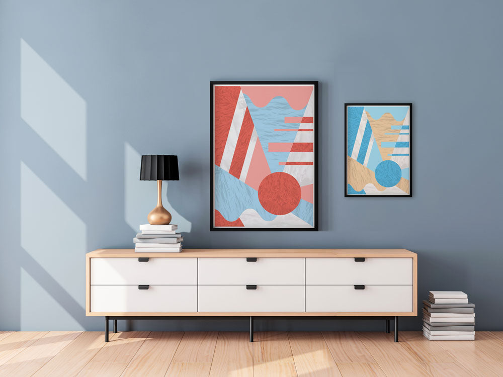 Complimentary Geometric Designs in a Modern Space