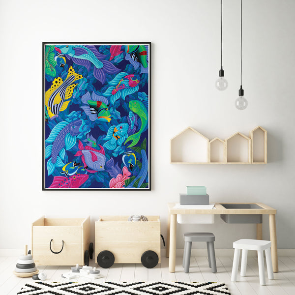 Fish Art Print Illustration