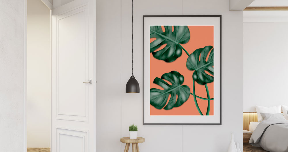 Monstera Orange Large Print