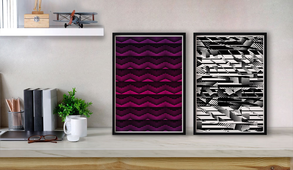Retro and Monochrome Geometric Prints