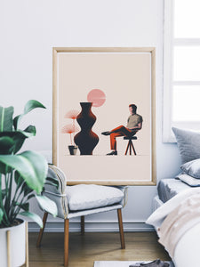 18 Still Life Art Print in a bedroom