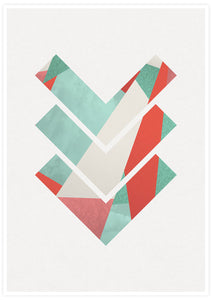 3 Arrows Minimal Geometric Art Print no frame