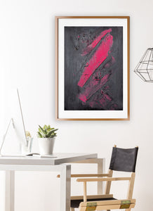 A Hint of Pink Painting Print in modern studio setting