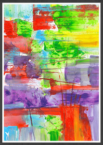 Bazloc Abstract Art Poster in a frame