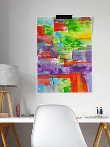 Bazloc Abstract Art Poster in a smart desk area
