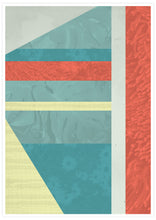 Load image into Gallery viewer, Beach Hut Geometric Art Print not in a frame