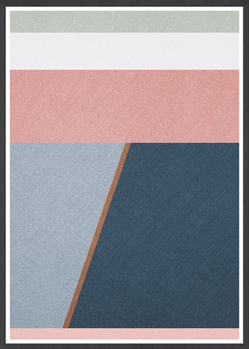 Calm Neutral Abstract Art Print