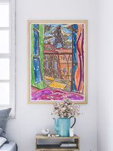 Load image into Gallery viewer, City LI Sketch Art Print in a mdoern room interior