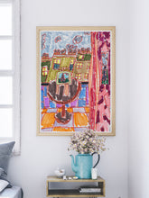 Load image into Gallery viewer, City LV Art Print ina  modern room interior