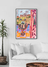 Load image into Gallery viewer, City LV Art Print in a traditional room interior