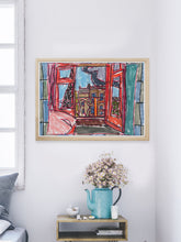 Load image into Gallery viewer, City XIX Paris Art Print in a modern room interior