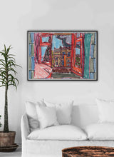 Load image into Gallery viewer, City XIX Paris Art Print in a quirky room interior