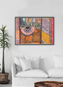 City XLVIII Paris Art Print in a gorgeous lounge interior