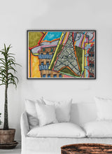 Load image into Gallery viewer, City XV Illustration Wall Art ina  traditional room interior