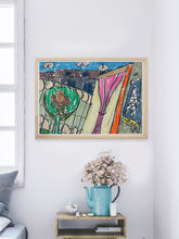 Load image into Gallery viewer, City XVII Illustration Print in a modern room
