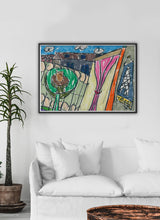 Load image into Gallery viewer, City XVII Illustration Print on a traditional wall interior